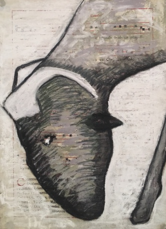 "San Macario #11, 23x30.5cm, 9""x12"", mixed media on paper"