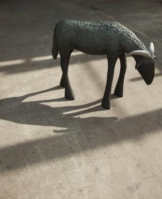 "Sotto, 119x56x89cm, 47″x22″x35"", bronze"