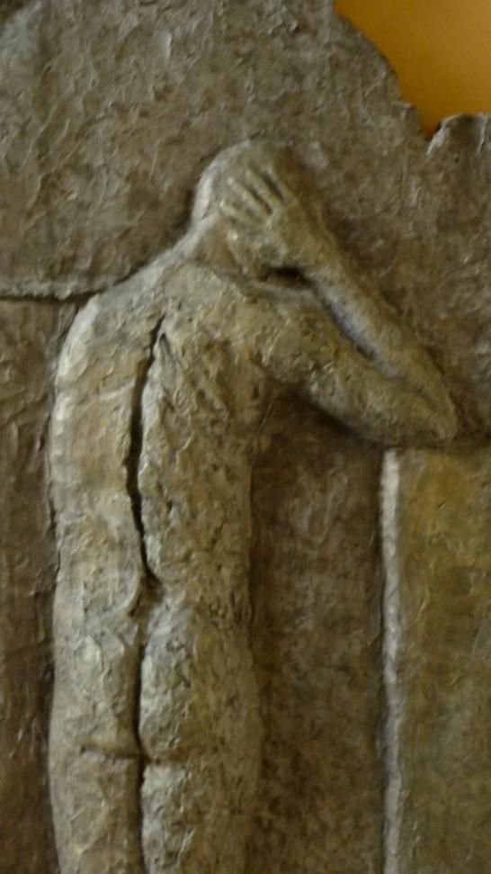 Zero to the bone, 68x10x29cm, 27x4x11, bronze, detail